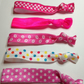 pretty darling elastic printed  hair ties lipstick pop package