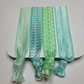 seascape package four blue marine coloured elastic hair ties pretty darling