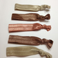 The nude package everyday elastic  hair tie package pack of five bands