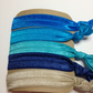 Azure package ,5 solid elastic hair ties handmade