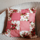 pretty darling vintage style floral patchwork cushion