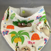 Bandana Dribble Bibs Sloths Pk of 2