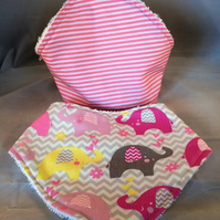 BANDANA DRIBBLE BIBS PK OF 2  print of choice
