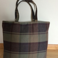 Plaid Shopping bag tote