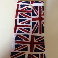Glasses case soft  Union Jack