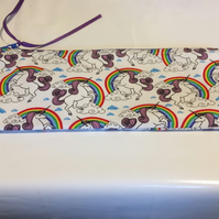 Pencil Case Unicorns and rainbows  personalised