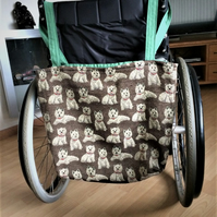 Wheel Chair shopping Bag Highland Terriers