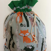 TOY TIDY FOREST ANIMALS DRAWSTRING SACK