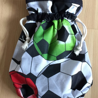 Football draw string bag