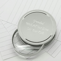 Personalised magnifying glass and paperweight in presentatio box