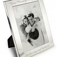 Personalised silver plated photoframe available in 3 sizes