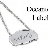Personalised wine decanter label in presentation box