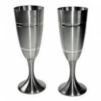Personalised pewter flutes in presentation box