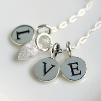 Love Necklace with Tiny Frost Heart Charm