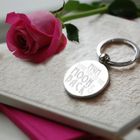 Round personalised tab keyring in presentation box