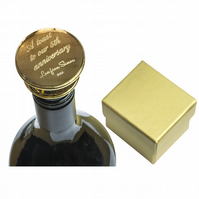 Gold plated wine bottle stopper