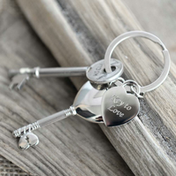 Personalised Key to Love Keyring