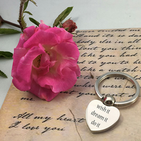 Personalised love shape keyring in presentation box