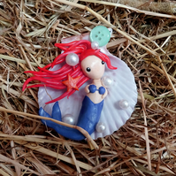 Handmade Polymer Clay Mermaid Trinket