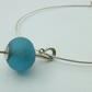 Maloy - turquoise recycled glass bead necklet