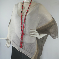 Knitted Linen Poncho