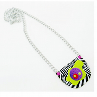 Bib Necklace Bright Op Art Artsy Colourful Punk Multicolour Outrageous Jewellery