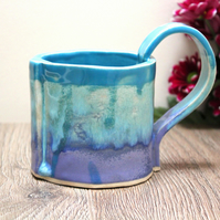 Colourful ocean hues Mug, Handmade Ceramic
