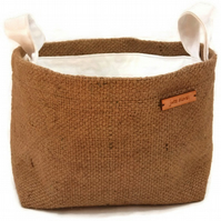 Hessian Storage Basket, the perfect eco-chic room tidy.