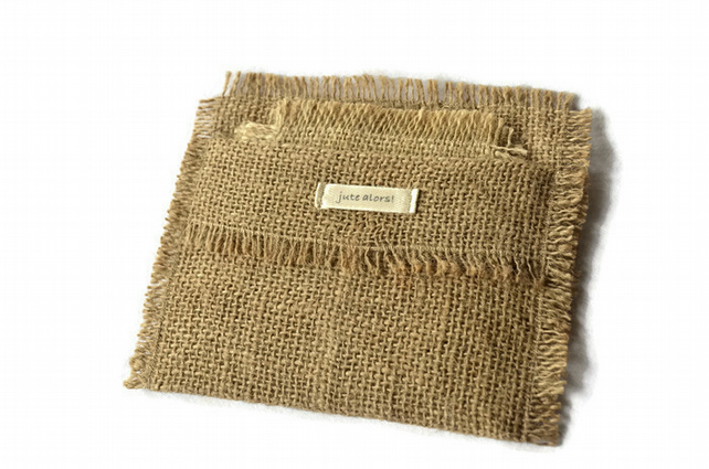 Hessian Coasters. Set of 6