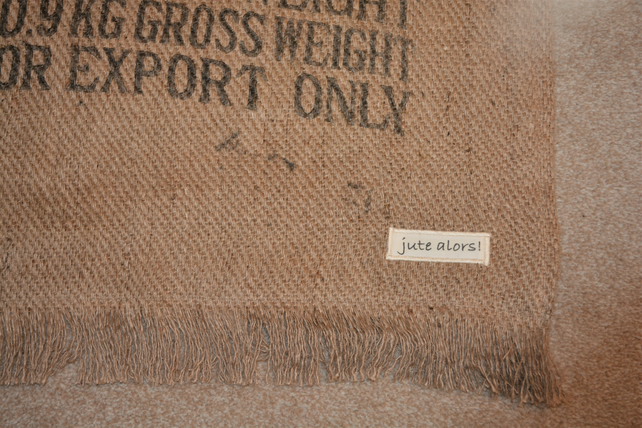 Hessian Reversible Mat or Rug. Coffee Sack Hessian. Eco-friendly.