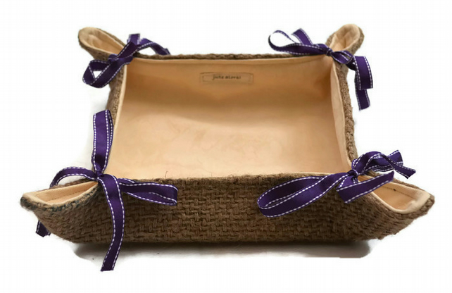 Hessian Folding Storage Basket