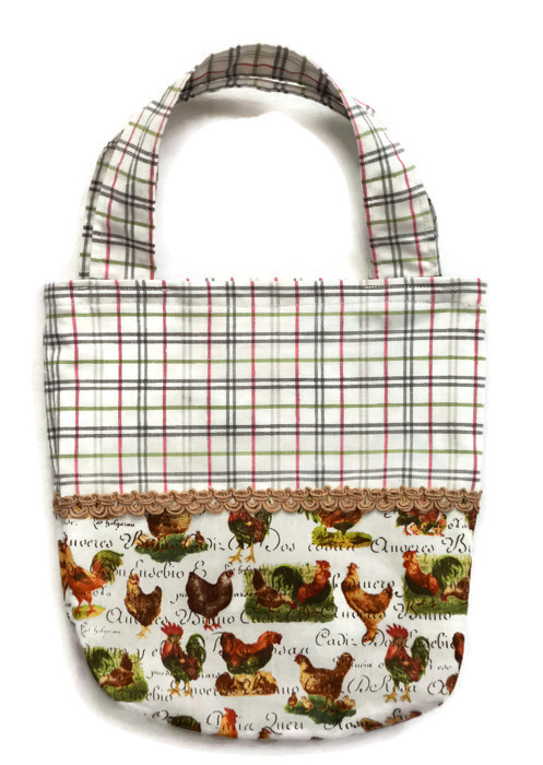 Children's Chicken Bag. Mini Tote bag with Chicken design.