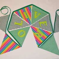 Oliver Personalised Fabric Bunting. Handmade Ready to Post Oliver Bunting.