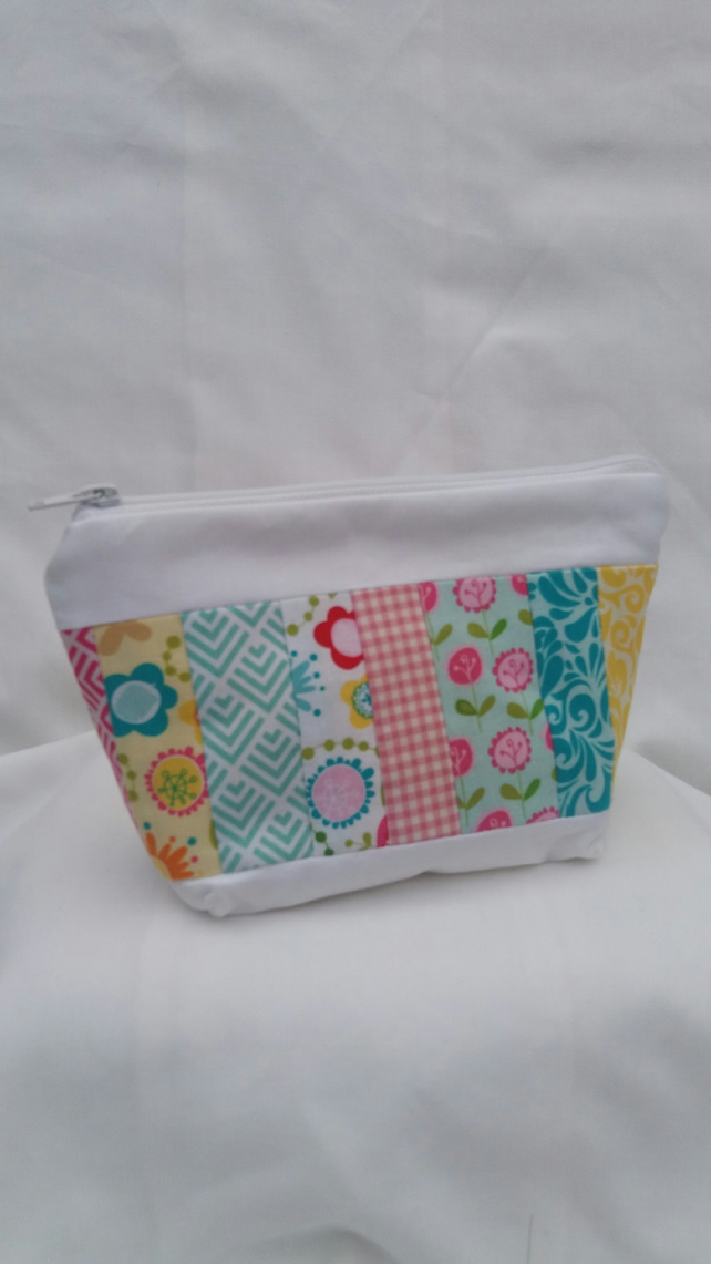 Patchwork Make up, Toiletries Bag