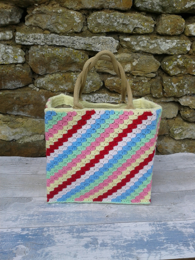 Blanket on a Bag - Diagonal Stripes