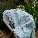 Forget Me Dot Crochet Throw