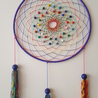 Purple Rainbow Dream catcher (large)