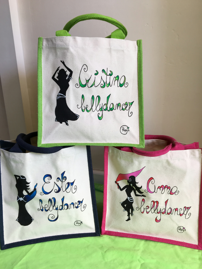 PERSONALISED BELLYDANCER TOTES