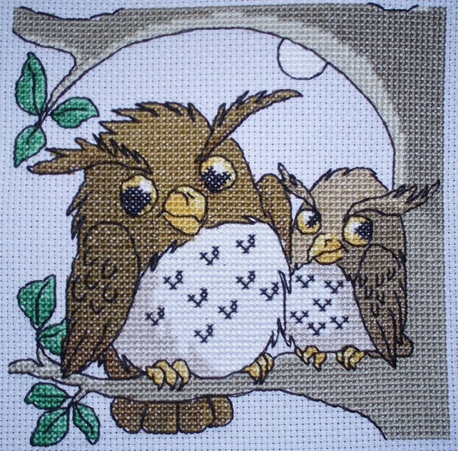 KL63 Goodnight Owls Cross Stitch Kit designed by Vanessa Wells