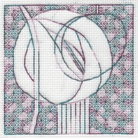 KL166 Mackintosh Rose Blackwork Needlework Kit