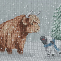 KL164 Winter Highland Family Cross Stitch Kit designed by Genny Haines
