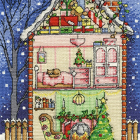 DMC BK1700 Christmas at Home Cross Stitch Kit designed by Durene Jones