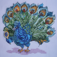 KL90 Looking Good! Peacock Cross Stitch Kit designed by Vanessa Wells