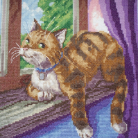 KL40 Best Seat in my House! Cat Cross Stitch Kit designed by Vanessa Wells