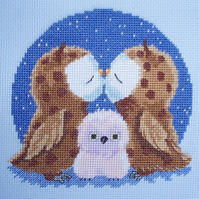 KL98 True Love Owl Cross Stitch Kit designed by Genny Haines