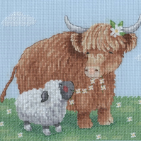 KL162 Summer Highland Family Cross Stitch Kit designed by Genny Haines
