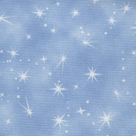 Fabric Flair Fairy Dust Dark Blue with sparkles 14ct Aida - 45 x 50cm