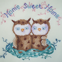 KL99 Home Sweet Home Owl Cross Stitch Kit designed by Genny Haines