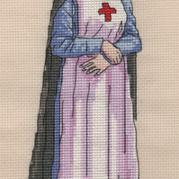 KL141 WW1 Nurse Cross Stitch Kit designed by Vanessa Wells