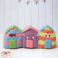 DMC Beach Huts Doorstop Crochet Pattern